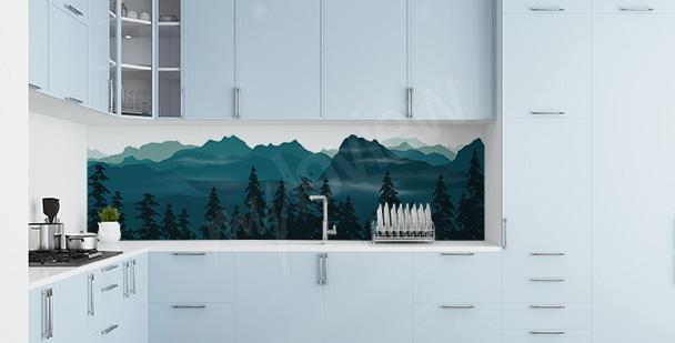 Nálepka les do kuchyně
