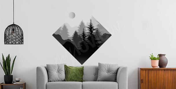 Nálepka les geometrických tvarů