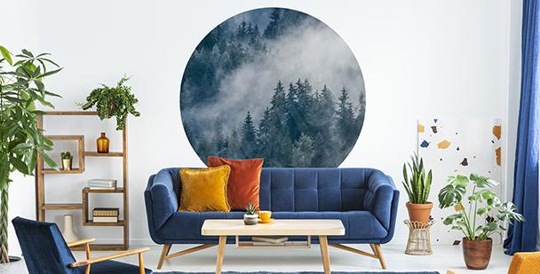 Nálepka les v mlze