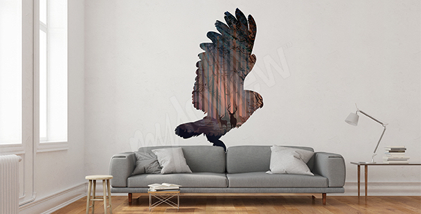 Nálepka letící pták