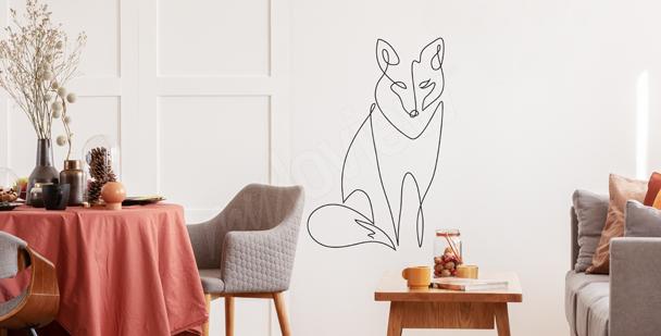 Nálepka liška line art