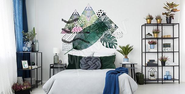 Nálepka listí a trojúhelníky