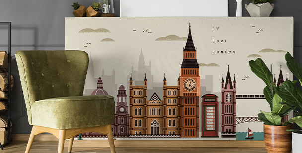 Nálepka Londýn a architektura