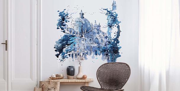 Nálepka Londýn v akvarelu