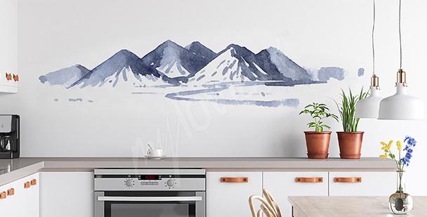 Nálepka malovaná akvarelem do kuchyně