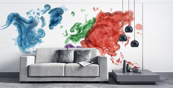 Nálepka mapa malovaná akvarelem