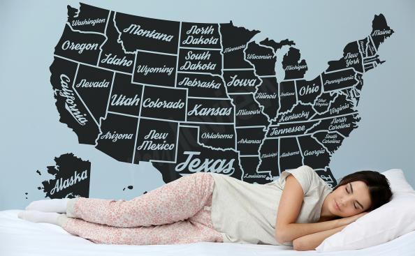 Nálepka mapa USA