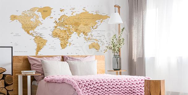 Nálepka mapa v retro stylu