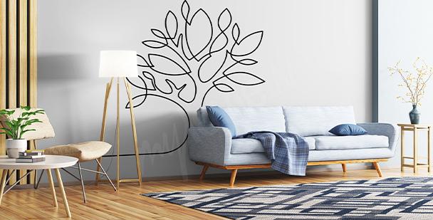 Nálepka minimalistický stromem