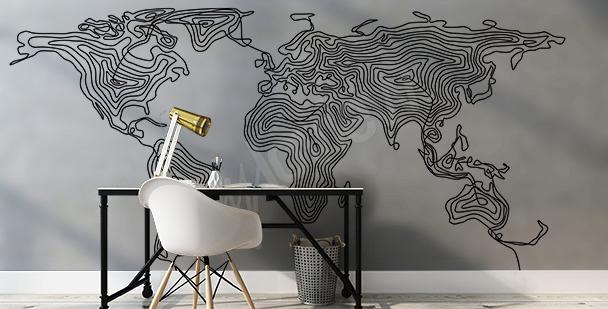 Nálepka moderní mapa světa