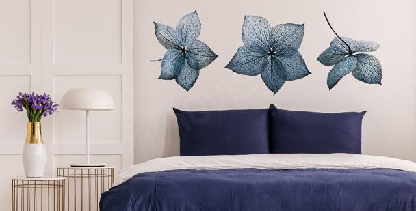 Nálepka modrá hortenzie