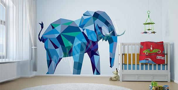Nálepka modrý slon