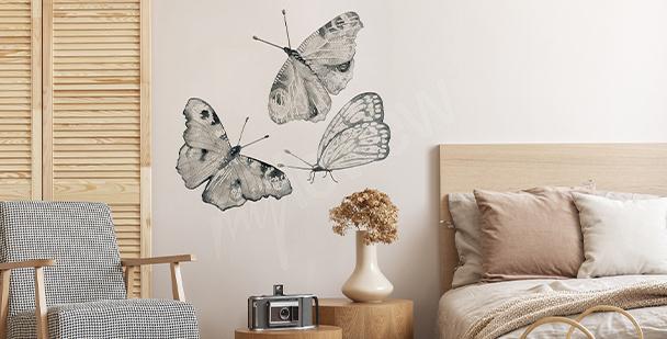 Nálepka motýli do ložnice