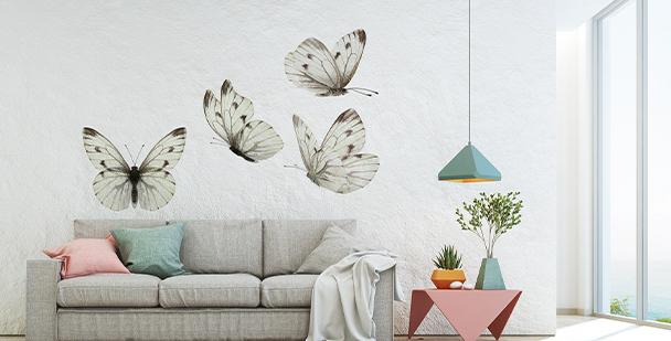 Nálepka motýli v barvě sépie