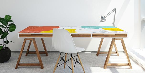 Nálepka na psací stůl ve stylu pop-art