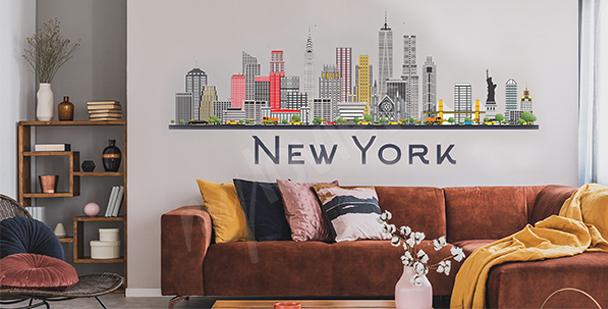 Nálepka New York do obývacího pokoje