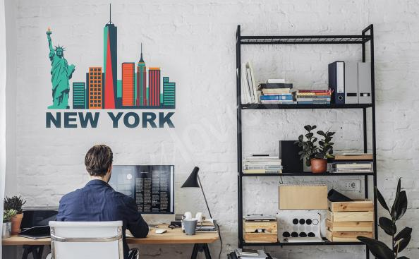 Nálepka New York – mrakodrapy