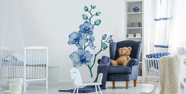 Nálepka orchidej do dětského pokoje
