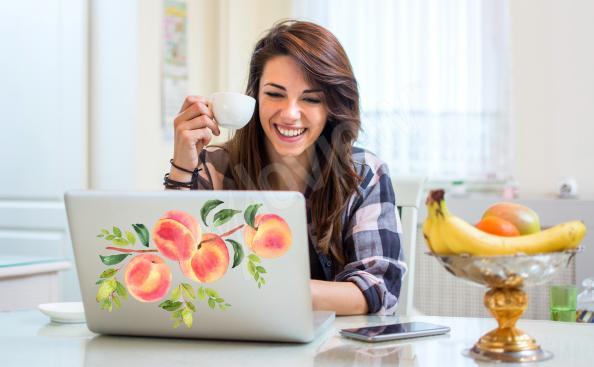 Nálepka ovoce na notebook
