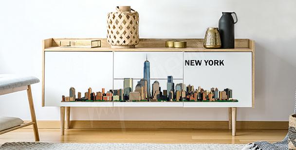Nálepka panorama města