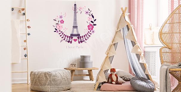 Nálepka Paříž do dětského pokoje