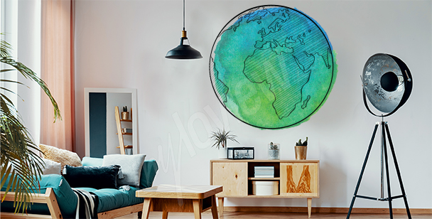 Nálepka planeta Země