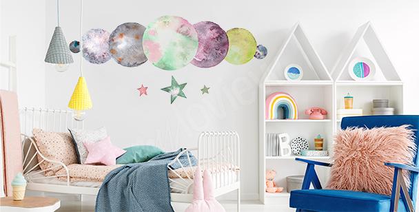 Nálepka planety do dětského pokoje
