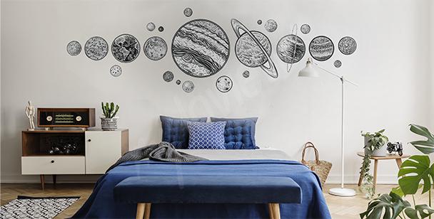 Nálepka planety do ložnice