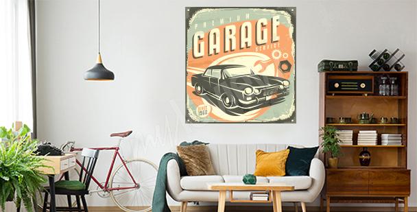 Nálepka retro do obývacího pokoje