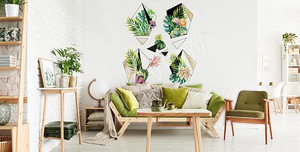 Nálepka rostliny do obývacího pokoje eko