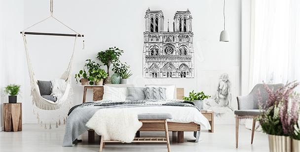 Nálepka s katedrálou Notre Dame