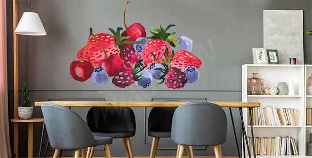 Nálepka s letním ovocem