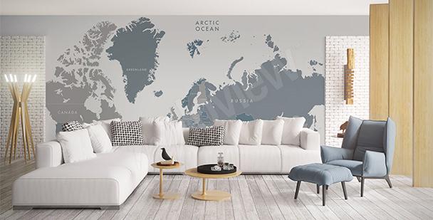 Nálepka s mapou do obývacího pokoje