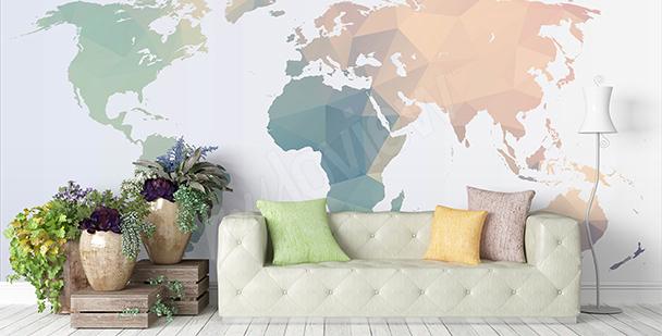 Nálepka s mapou světa