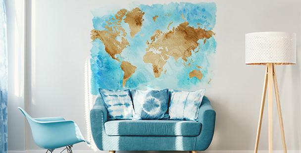 Nálepka s mapou v retro stylu