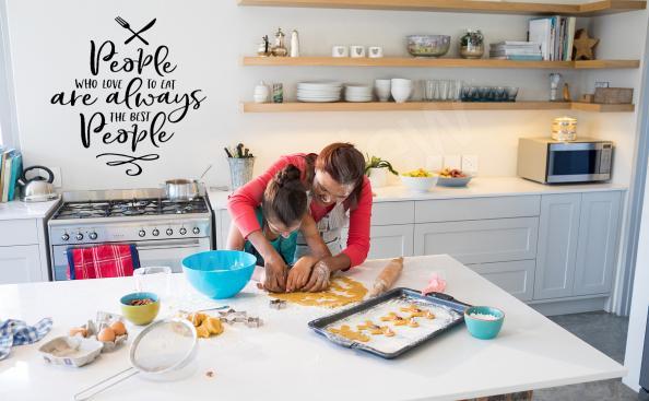 Nálepka s nápisy do kuchyně