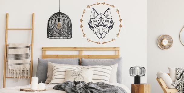 Nálepka s podobiznou vlka