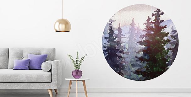 Nálepka s přírodou: les