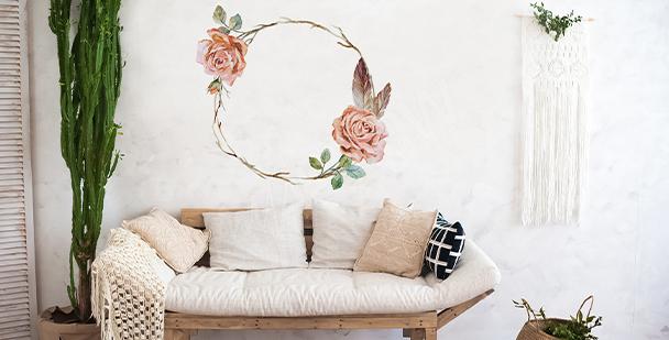 Nálepka shabby chic růže