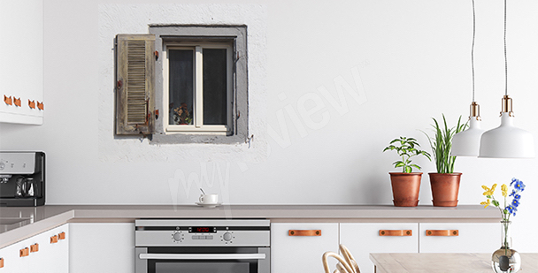 Nálepka staré okno