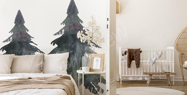 Nálepka strom do ložnice