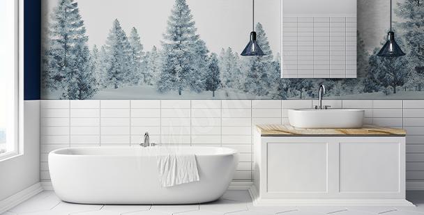 Nálepka stromy do koupelny