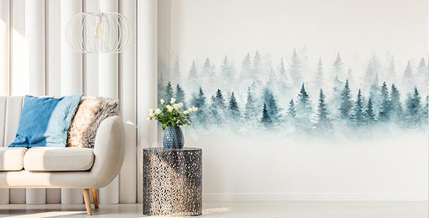 Nálepka stromy v lese