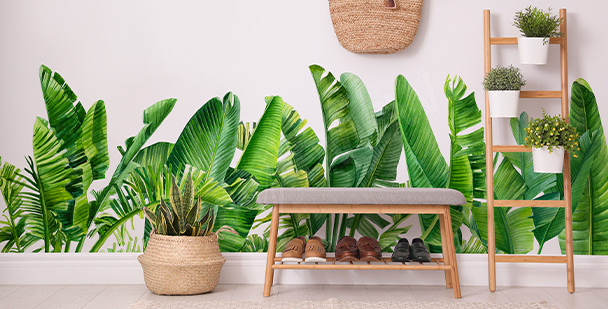 Nálepka tropické listí