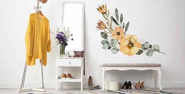 Nálepka ve stylu floral