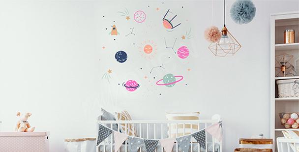 Nálepka vesmír do dětského pokoje