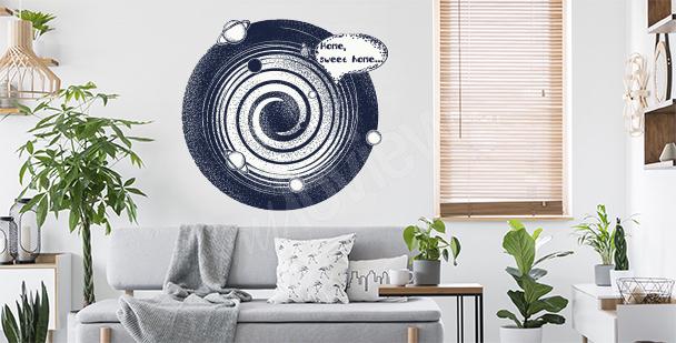Nálepka vesmír do obývacího pokoje