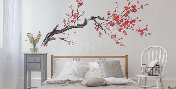 Nálepka větev s květy