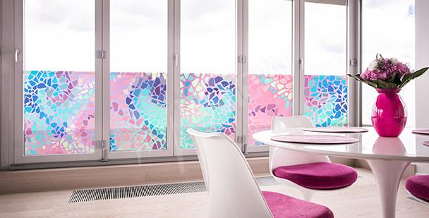 Nálepka vitrážová mozaika