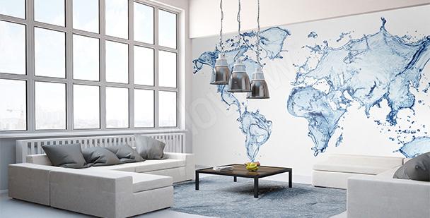Nálepka vodní mapa světa